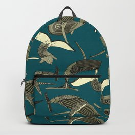 just whales blue Backpack