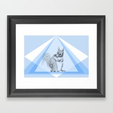 Squirrel stealing nuts Framed Art Print