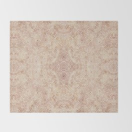 Iced coffee and white swirls doodles Throw Blanket
