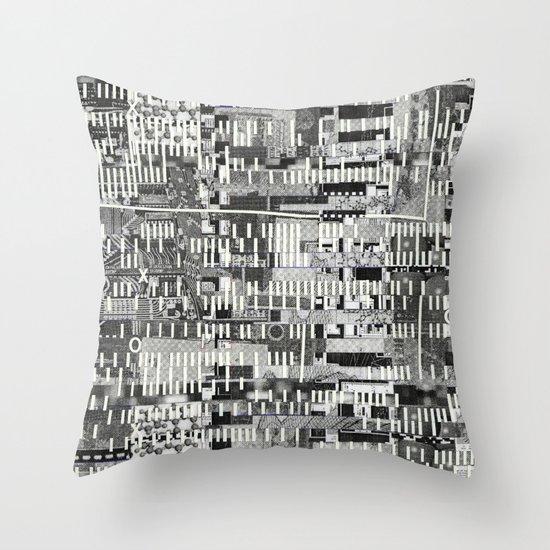 Exploiting Digital Behavior (P/D3 Glitch Collage Studies) Throw Pillow