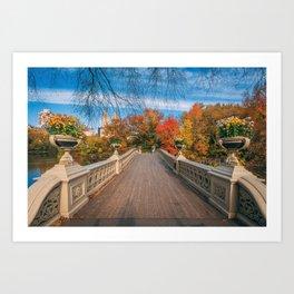 Bow Bridge Autumn 04 Art Print