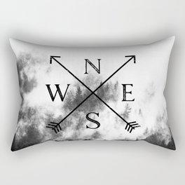 Foggy Forest Compass Rectangular Pillow