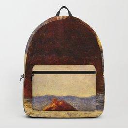 Claude Monet - Grainstack (Snow Effect).jpg Backpack