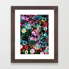Multicolor Floral Pattern Framed Art Print
