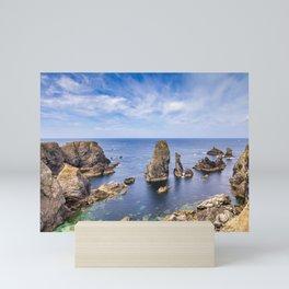Les Aiguilles de Port Coton, Brittany Mini Art Print