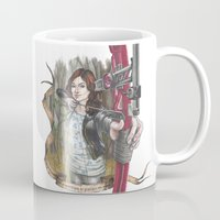 allison argent Mugs featuring Allison Argent - We protect those who cannot protect themselves by MonsterFromTheLAke