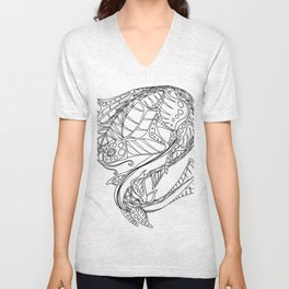 Monk Fish Unisex V-Neck