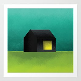 Simple Housing | House in a lowland Art Print
