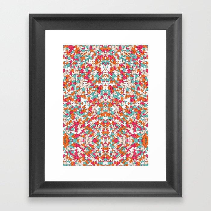 Chaotic Triangle Balance Framed Art Print