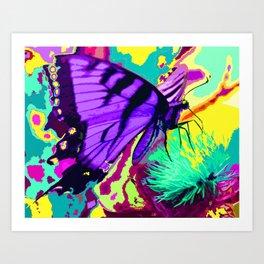 Purple butterfly beauty 1 Art Print