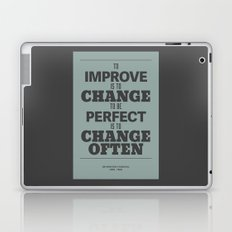 'To improve is to change, to be perfect is to change often'  Laptop & iPad Skin