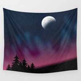 Dancing Night Sky Wall Tapestry