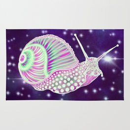 Psychedelic Space Snail Rug
