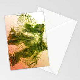Mark Making with Olive Greens on Tangerine Stationery Cards