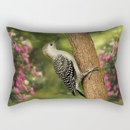 Juvenile Red Bellied Woodpecker Rectangular Pillow