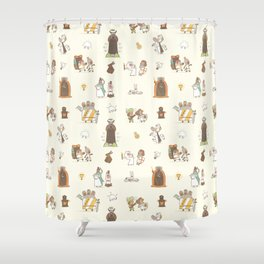 The Holy Grail Pattern Shower Curtain