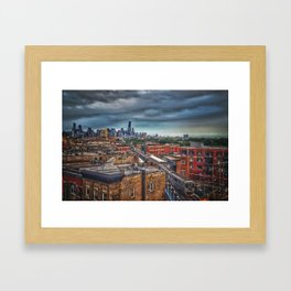 City by the Lake Framed Art Print