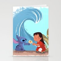 lilo and stitch Stationery Cards featuring Lilo & Stitch by Orelly