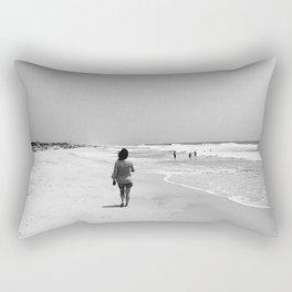 Long Walks on the Beach Rectangular Pillow