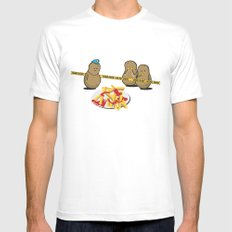The Horror! MEDIUM Mens Fitted Tee White
