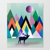 hipster Canvas Prints featuring hipster by mark ashkenazi
