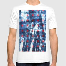 dots on blue ice White Mens Fitted Tee MEDIUM