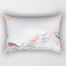 Abstract painted landscape of mountains Rectangular Pillow