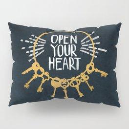 Open Heart - Dark Background Pillow Sham