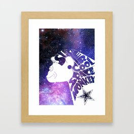 Super Cool Space Monkey Framed Art Print