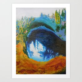 Lake Beauty Art Print
