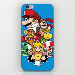 Mushroom Kingdom Fighters iPhone Skin