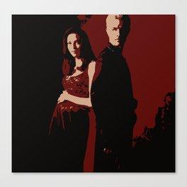 Spike & Dru Canvas Print