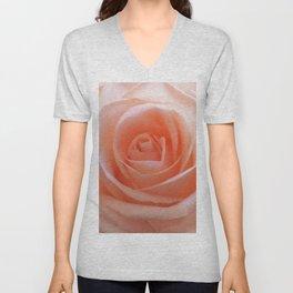 Beautiful peach rose Unisex V-Neck