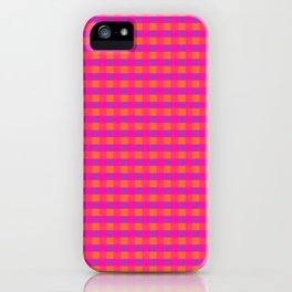 Jazzy Checks in Orange, Pink and Purple iPhone Case