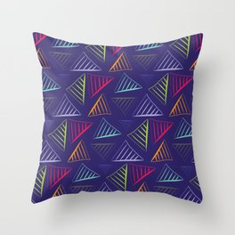 Art triangles Throw Pillow