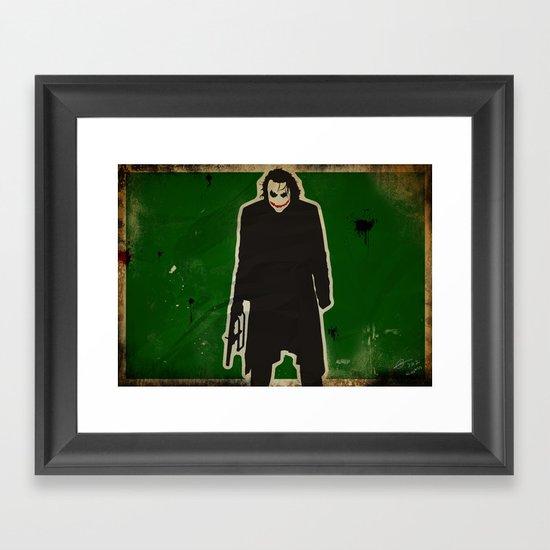 The Dark Knight: Joker Framed Art Print
