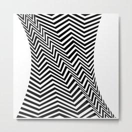 Op-Art Zig Zag Metal Print