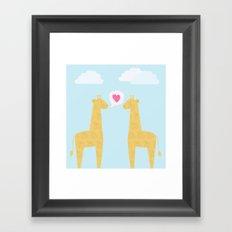 Spotty Giraffe Framed Art Print