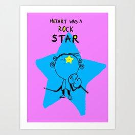 MOZART WAS A ROCK STAR (PINK) Art Print