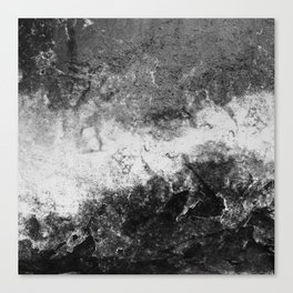 DAMAGED BLACK AND WHITE Canvas Print