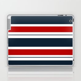 Red, White, and Blue Horizontal Striped Laptop & iPad Skin