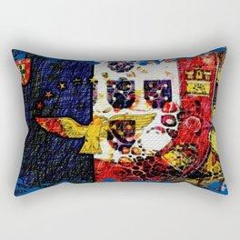 Portuguese flags art Rectangular Pillow