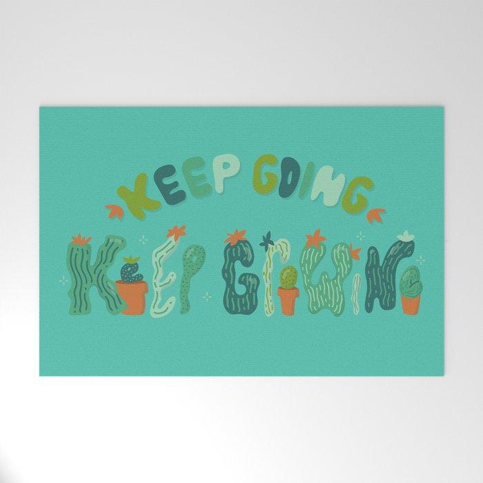 Keep Going Keep Growing Welcome Mat