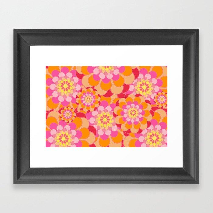 Flower Pattern Design Framed Art Print