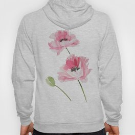 Pink Poppies Hoody