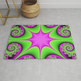 Kaleidoscope in Green and Pink Rug