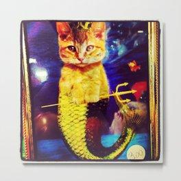 mermaid kitty Metal Print