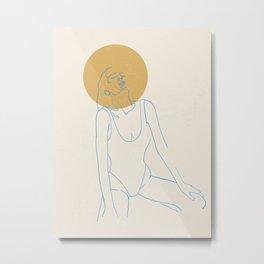 Sun salutation | Metal Print