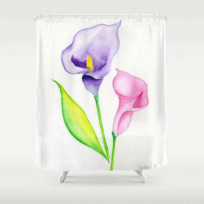 Calla Lilies Shower Curtain By Christinecholowsky