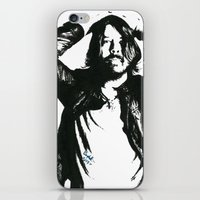 dave grohl iPhone & iPod Skins featuring Dave Grohl (1) by Carolyn Campbell